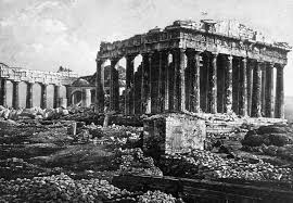Early photo of Parthenon